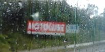 Pluie battante une bonne partie de la route.