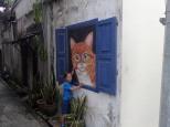 L'art de rue.Et petit calin!!