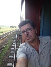 ET mon rêve de gamin se réalise, je suis sur le marche-pied du train.