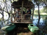 Puis ballade en catamaran, vu un énorme crocodile.