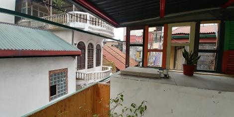 Terrasse sur le toit.