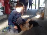 Lui qui avait trop peur des chiens.