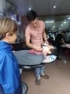 Lendemain matin après un petit déj, petit tour chez le coiffeur refaire un coup de propre pour m.laure bien sûr.