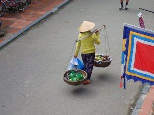 Vendeuse de rue.
