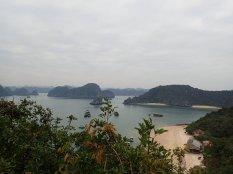 Belle vue sur la baie et sur l'île.