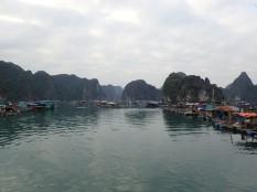 Voilà c'est fini, retour à notre port à travers les villages flottants ( 3 à 400 maisons) .