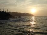 Magnifique lever du soleil à la sortie de la baie.