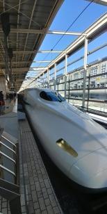 Il vous fait penser à quoi ? Un ornithorynque eh oui vérifiez!! Magnifique train qui va nous emmener au mont Fuji.