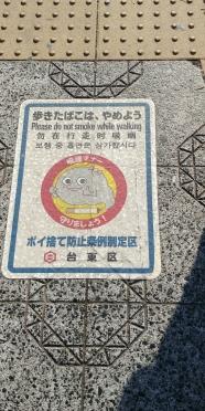 Ah oui défense de fumer dans la rue au Japon!!