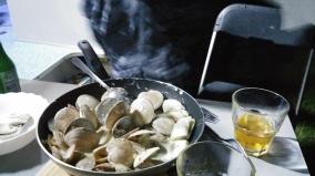 Repas de la pêche du matin.