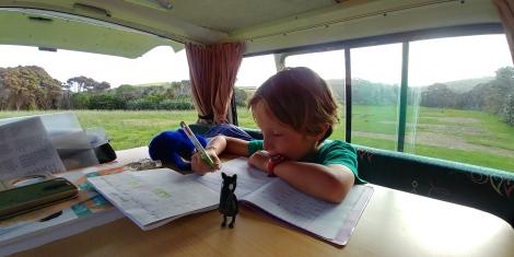 Et moment studieux avec Loup.