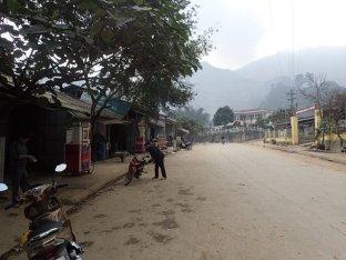Dans un village en pleine montagne.