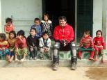 Et quelques enfants venant de toutes les montagnes environnantes.