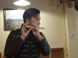Et petit-déj avec Chu Chu et encore un de ses nombreux talents.