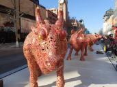 Et une expo de Buffalo sur l'avenue Wangfujing Dajie.