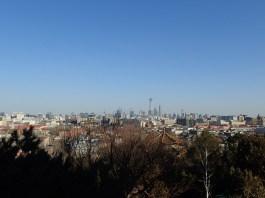 Vue panoramique. Ici sur le quartier des affaires.