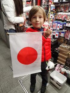 Drapeau japonais pour le gage de Pauline.