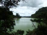 Le lac vert de Ngakoro formé il y a 970 ans après une éruption.