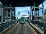 C'est bon nous sommes les derniers à pénétrer ds le ferry
