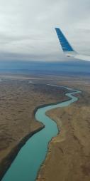 Et on reconnaît de suite la couleur de l'eau des glaciers.