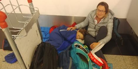 Eh bien voilà, nous sommes arrivés à Buenos Aires après 7H00 d'attente à Calafate.