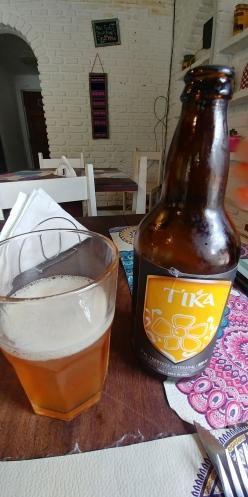 Et petite bière locale pour fêter notre arrivée.