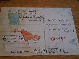 Petite carte de Simon pour Paupau et vs remarquerez la signature! Trop mignon.