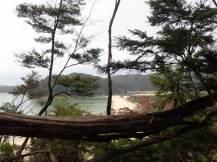 Départ d'une superbe balade de 15 kms le long du litoral.