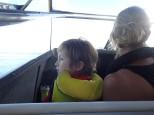 Et nous repartons avec notre taxi à fond les gamelles. Le pilote se fait plaisir!!!