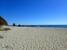 Alors bien arrivé à cette superbe plage, pas de pingouins mais attaque de Sandflies!!!On repart en courant.