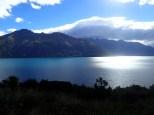 Coucher de soleil sur la route de Te Anau.