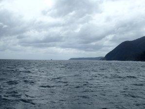 Nous arrivons en mer de Tasman au bout du fjord.