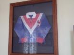 Un vieux maillot de rugby français.