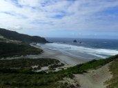 Après une bonne petite marche, nous apercevons la plage et les dunes.