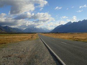 Après une bonne nuit direction Mt Cook.