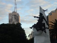 Notre cher Don Quichotte et Eva Peron.