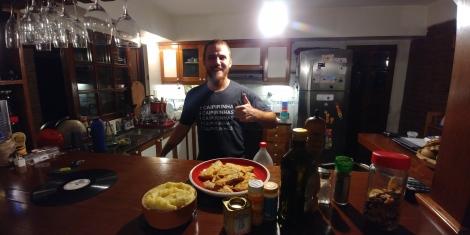 Et de notre hôte, merci encore pour cette soirée et ce repas. (Et aussi pour le Jack, 1er depuis notre départ) Bise.
