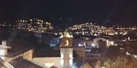 Les lumières de la ville vues de notre appart.