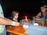 Et surprise, gâteau d'anniversaire pour Simon.