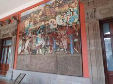 Avec ses fresques géantes et magnifiques de Diego Rivera
