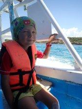Petit tour en bateau jusqu'à la barrière de corail.