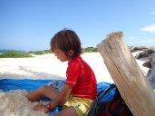 Repos et jeux sur la plage, c'est trop dur la vie!!!