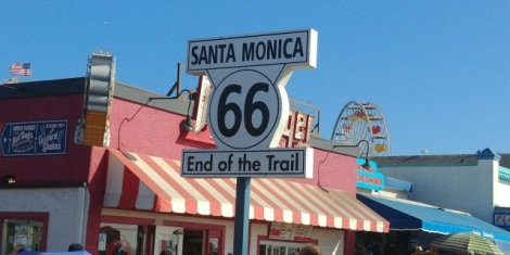 Et où se termine la fameuse route 66. (Beau chiffre d'ailleurs!!!).
