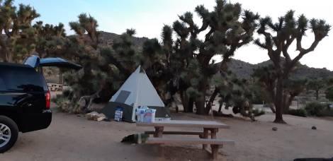 Montage de la tente ds cet endroit magique.