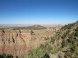Vision à perte de vue sur les plateaux bordant le Canyon.