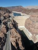 Arrêt au barrage Hoover pour une superbe vue sur le lac Meed.