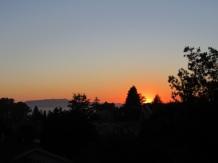 Coucher de soleil vu de notre terrasse.